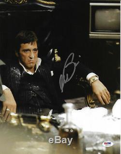 Al Pacino 11x14 Autographiée, Scarface, Photo, Chaise Tony Montana, Assis, Psa / Adn