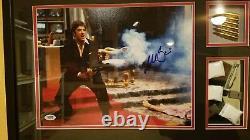 Al Pacino Scarface Auto Signé 11x14 Ultimate Frame Psa/adn Coa Avec Script