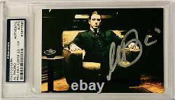 Al Pacino Signé 3.5x5 Le Parrain Photo Psa Dna Itp Autograph Slabbed