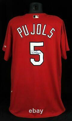 Albert Pujols 2001 Roy Signed Game Used St. Louis Cardinals Jersey Psa Dna Coa