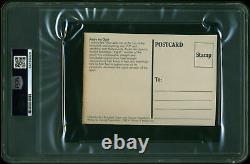 André Le Géant Authentique Signé 3.5x5.5 Carte Postale Autographiée Psa/adn Slabbed