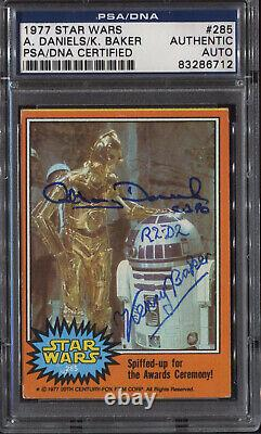 Anthony Daniels Kenny Baker A Signé 1977 Star Wars Card Psa/adn Autographe