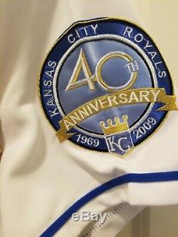 Autographié Signé Authentique Bo Jackson 40ème Anniversaire Royals Jersey Psa / Adn