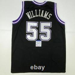 Autographié/signé Jason Williams Sacramento Black Basketball Jersey Psa/adn Coa