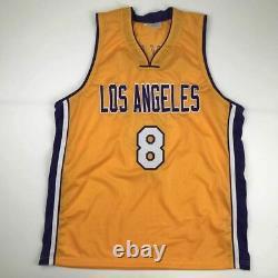Autographié/signé Kobe Bryant #8 Los Angeles La Yellow Jersey Psa/dna Coa Auto