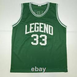 Autographié/signé Larry Bird Boston Green Basketball Jersey Psa/dna Coa Auto
