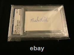 Babe Ruth A Signé Une Carte D'index Vierge Psa/dna Autographié New York Yankees Psa 9