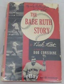 Babe Ruth Authentique Autographié Signé The Babe Ruth Story Book Psa / Dna # Ag01315