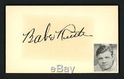 Babe Ruth Autographié Signé 3x5 Index Carte De New York Yankees Psa / Adn Af45414