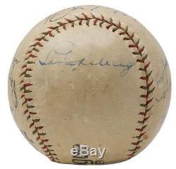 Babe Ruth Lou Gehrig +10 Yankees Signés Baseball Withcase Psa / Adn Ah41195