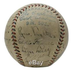 Babe Ruth Lou Gehrig 1933 Yankees Équipe Signé Oal Baseball +20 Psa / Adn Jsa