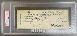 Babe Ruth Psa / Adn Certifié Authentique Signé Chèque Auto Psa 10 Yankees