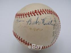 Babe Ruth Psa / Adn Certifié Authentique Unique Signé Baseball Autograph Yankees