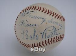 Babe Ruth Psa / Adn Et Jsa Certifié Authentique Unique Signé Al Baseball Autograph