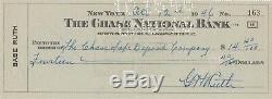 Babe Ruth Psa / Dna Certifié Authentique Chèque Personnel Signé Autographié Rare