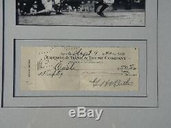 Babe Ruth Psa / Dna Certifié Authentique Chèque Signé Autographié Monnaie Yankees