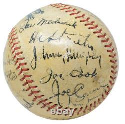 Babe Ruth Signé 1938 Yankees Al Baseball Hall Of Fame Psa / Adn Loa K78140