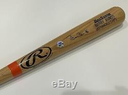 Barry Bonds Signé Autograph Rawlings Adirondack Big Stick Bat Psa Adn