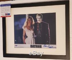 Batman Jack Nicholson Le Joker A Signé 8x10 Photo Psa Adn (encadré)