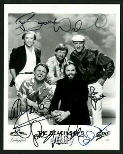 Beach Boys Wilson Love Jardine Enregistrement (5) Autographiée 8 X 10 Photo Psa Adn