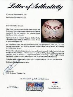 Beau Honus Wagner Sweet Spot Signé Autographié Baseball Avec Psa Dna Coa