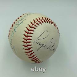 Beau Roger Maris & Mickey Mantle Signé Autographié Baseball Psa Adn Coa