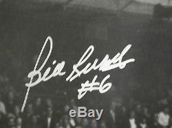 Bill Russell & Wilt Les Échasses Chamberlain Psa / Adn Signé 16x20 Photo Dédicacé