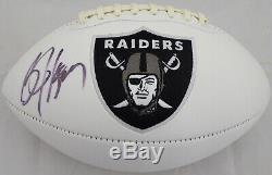 Bo Jackson Autographié Signé Logo White Footballeur Oakland Raiders Psa / Adn 72370