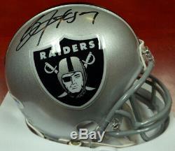 Bo Jackson Autographié Signé Oakland Raiders Mini Casque Psa / Adn 112502