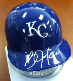 Bo Jackson Autographié Signé Royals De Kansas City Mini Casque Psa / Adn 89149