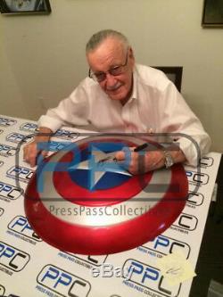 Bouclier Complet Captain America Signé Stan Lee Avec Hologramme Stan Lee & Psa / Adn