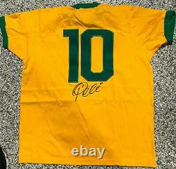 Brésil Pelé Signé Maillot De Football Autographié Psa Dna Coa