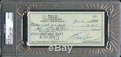 Bruce Lee Janvier 1968 First Western Bank Auto Signé Personal Check Psa / Adn Rare
