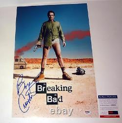 Bryan Cranston A Signé Autograph Breaking Bad Affiche De Cinéma Psa/adn Coa