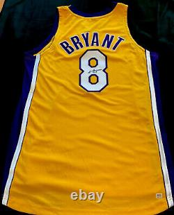 Bryant Autographié Kobe Signé Rare Accueil Or Nike Cut Pro # 8 Jersey Psa / Adn