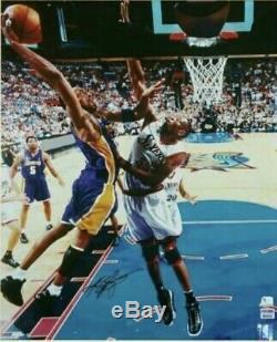Bryant Rare Kobe Nom Complet Lakers Signé Autographié 16x20 Dunk Photo Psa / Adn