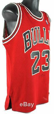 Bulls Michael Jordan Authentique Signé Red Macgregor Jersey Psa / Dna # B57360