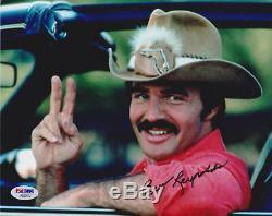 Burt Reynolds Signé 8x10 Et Le Bandit Smokey Photo Trans Am Peace Psa / Adn