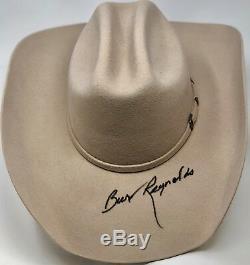 Burt Reynolds Signé Smokey Et Le Chapeau De Bandit Psa / Adn Dans Le Prescene