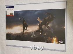 Captain America Chris Evans A Signé 12 X 18 Avengers Endgame Photo Psa Dna