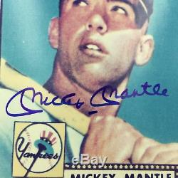 Carte Mickey Mantle Autographiée, 1952 Topps Rookie Autographiée, Photo 8x10 Photo: Psa, Adn Coa