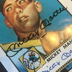 Carte Mickey Mantle Autographiée 1952 Topps Rookie Signée Autographiée 8x10 Adn Photo Psa