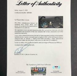 Charlie Sheen Autographe Major League Signé Wild Thing Glasses Psa/adn Coa Loa