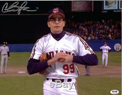 Charlie Sheen Autographié 11x14 Major League Vaughn Photo Dédicacée Psa / Adn Coa