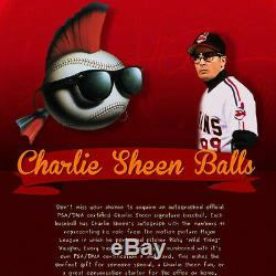 Charlie Sheen Autographié Authentic Baseball Psa / Dna Coa