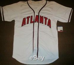 Chipper Jones Atlanta Braves Auto Autographié Signé Jersey Baseball Psa / Adn Coa