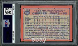 Chipper Jones Autographié 1991 Topps Carte Rookie #333 Braves Psa/dna 186372