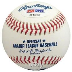 Chipper Jones Autographié Signé Lmb Baseball Braves 468 Heures Psa / Adn 150317