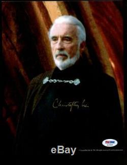Christopher Lee Star Wars Signé 8x10 Photo Dédicacée Auto Psa / Adn Coa Vente