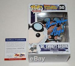 Christopher Lloyd Signe Autographed Funko Pop Figure Psa / Adn Aa87734 Doc Brun